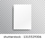 blank mockup with shadow on... | Shutterstock .eps vector #1315529306