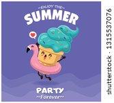 vintage summer food poster...   Shutterstock .eps vector #1315537076