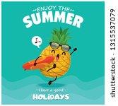 vintage summer poster design... | Shutterstock .eps vector #1315537079