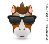 horse with sunglasses. a pet... | Shutterstock .eps vector #1315537493