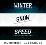 winter  snow modern alphabet... | Shutterstock .eps vector #1315538786