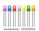 Seven Color Diode On White...