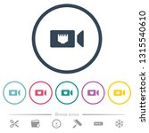 ip camera flat color icons in...   Shutterstock .eps vector #1315540610