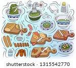 home cooking vector... | Shutterstock .eps vector #1315542770