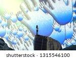 high five. 2d illustration....   Shutterstock . vector #1315546100