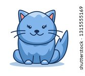 vector linear cat. flat outline ... | Shutterstock .eps vector #1315555169
