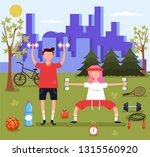 man and woman couple characters ... | Shutterstock .eps vector #1315560920
