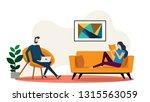 interior view inside the living ... | Shutterstock .eps vector #1315563059