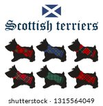 set of scottish terriers with... | Shutterstock .eps vector #1315564049