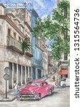 Watercolor Painting   Cuba...
