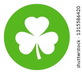 shamrock vector emblem on white ... | Shutterstock .eps vector #1315586420