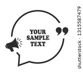 announce speech bubble with... | Shutterstock .eps vector #1315587479