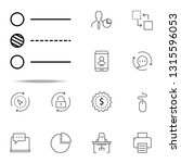 list icon. business icons...