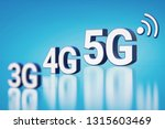 3g  4g and 5g white letters in... | Shutterstock . vector #1315603469