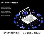 technology futuristic laptop...