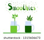 smoothie time. hemp  celery... | Shutterstock .eps vector #1315606673