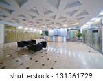 empty hall at business center...   Shutterstock . vector #131561729