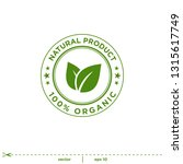 natural leaves stamp icon... | Shutterstock .eps vector #1315617749