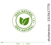 natural leaves stamp icon... | Shutterstock .eps vector #1315617770