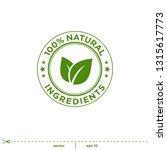 natural leaves stamp icon... | Shutterstock .eps vector #1315617773