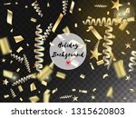 modern realistic gold tinsel...   Shutterstock .eps vector #1315620803