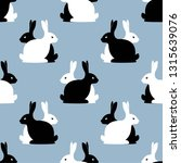 seamless pattern with hares.... | Shutterstock .eps vector #1315639076