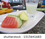 thai cantaloupe with sago and... | Shutterstock . vector #1315641683