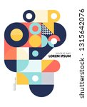 abstract geometric shape layout ... | Shutterstock .eps vector #1315642076