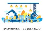 vector illustration  flat style ... | Shutterstock .eps vector #1315645670