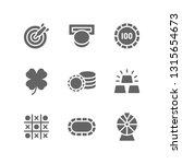 casino icon set including dart  ... | Shutterstock .eps vector #1315654673