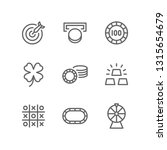 casino icon set including dart  ... | Shutterstock .eps vector #1315654679