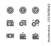 cryptocurrency icon set... | Shutterstock .eps vector #1315658063