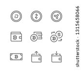 cryptocurrency icon set... | Shutterstock .eps vector #1315658066