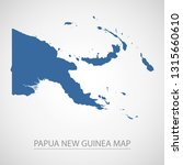 papua new guinea map. blue... | Shutterstock .eps vector #1315660610