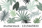 botanical seamless pattern ... | Shutterstock .eps vector #1315665833