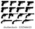 set of pistols silhouettes | Shutterstock .eps vector #131566613