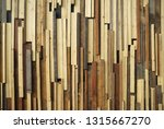decorated reclaimed timber... | Shutterstock . vector #1315667270