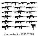 guns silhouettes   Shutterstock .eps vector #131567309