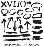 vector brush stroke vol 4 | Shutterstock .eps vector #131567699