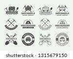 set of retro mining or... | Shutterstock .eps vector #1315679150