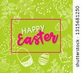 vector happy easter black... | Shutterstock .eps vector #1315681250