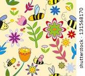 pattern background spring of... | Shutterstock .eps vector #131568170