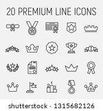 set of premium award icons in... | Shutterstock .eps vector #1315682126