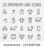 set of cow and milk icons in... | Shutterstock .eps vector #1315682186