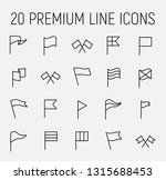 flag related vector icon set.... | Shutterstock .eps vector #1315688453