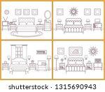 hotel room interior. bedroom... | Shutterstock . vector #1315690943