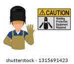 industrial worker is presenting ... | Shutterstock .eps vector #1315691423