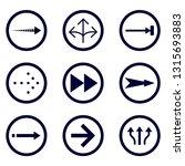 direction arrows vector...