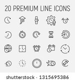 time related vector icon set.... | Shutterstock .eps vector #1315695386
