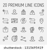 premium set of route line icons.... | Shutterstock .eps vector #1315695419